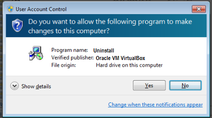 How to remove VirtualBox from Windows