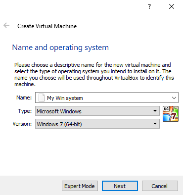 VirtualBox for Windows 10