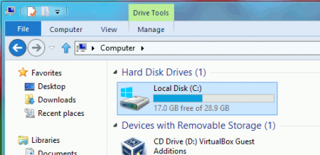 How to increase disk size on VirtualBox