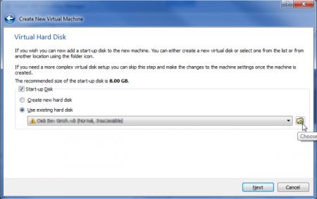 How to open VMDK in VirtualBox