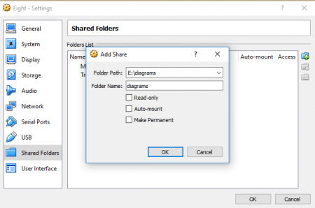 How to share files on VirtualBox